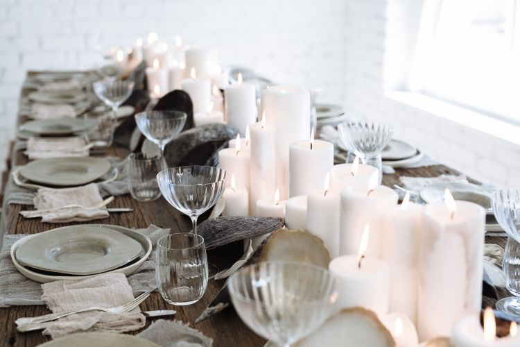 4 Tips for Simple Tablescape Styling / Light /Styling: The LANE