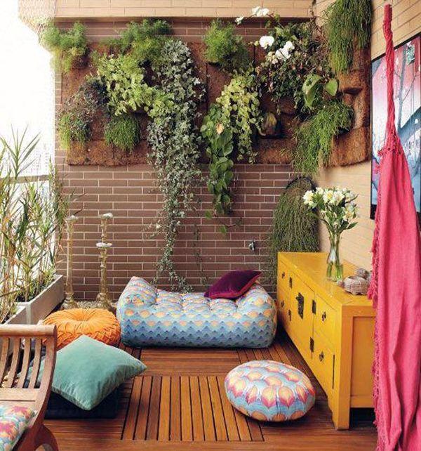 Colorful Balcony Garden Furniture 35 Small Balcony Gardens