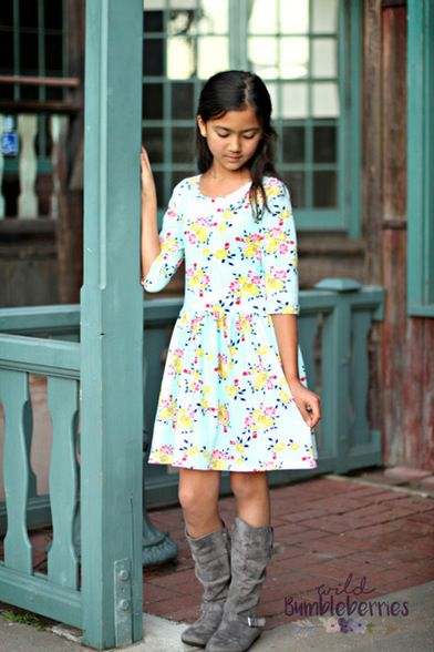 """Beautiful, easy and modern child sewing PDF patterns. You can now purchase """"Get the Look"""" kits. These feature SLPco patterns AND fabric."""