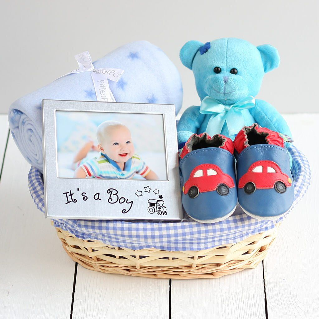 Our beautiful baby boy gift basket is a delightful gift