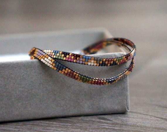 Handmade Miyuki beaded bracelet Gold plated lobster clasp
