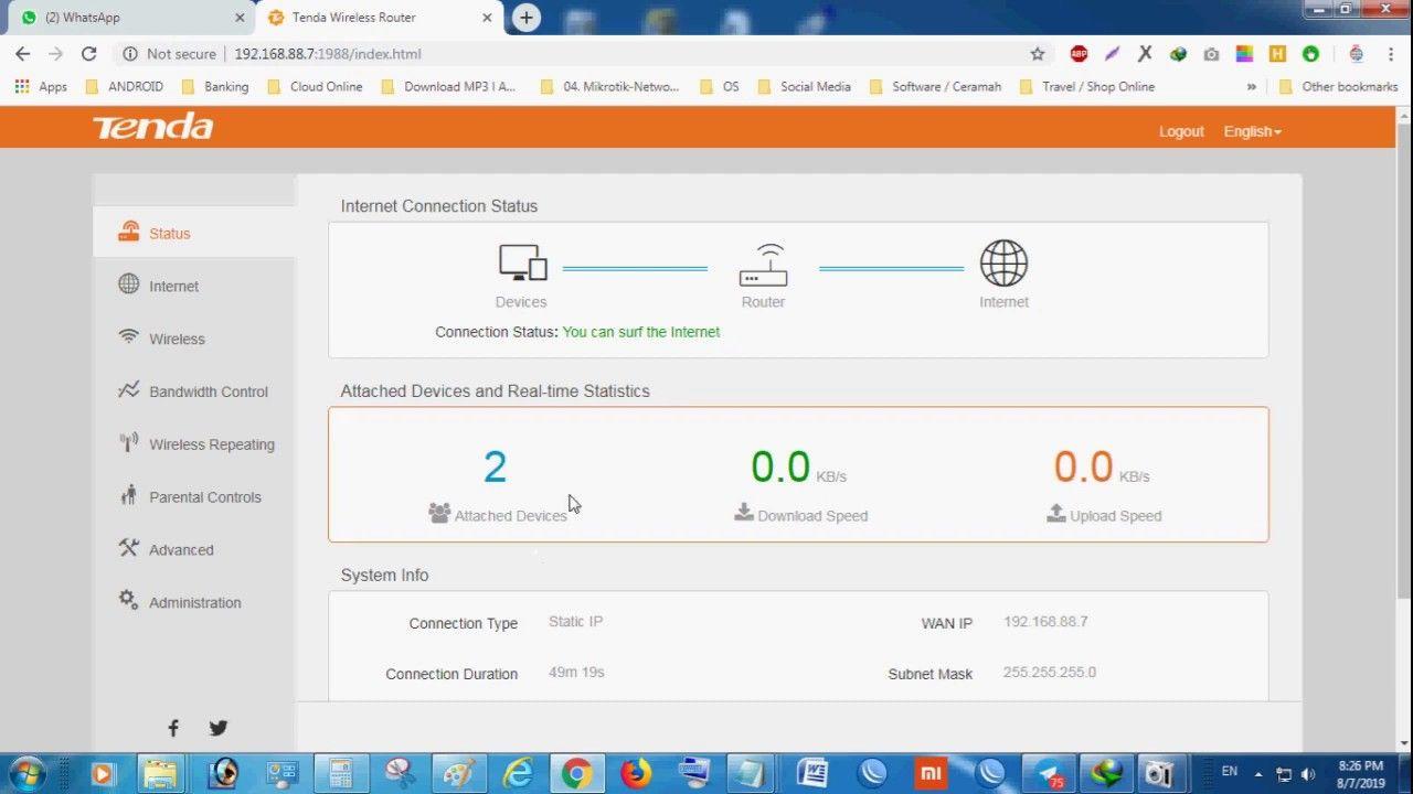 Cara mengganti Password Wifi - Router Tenda Mudah Banget   Tenda
