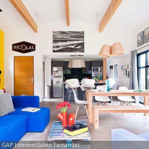 Wohnideen Für Große Wohnzimmer große fensterfront im wohnzimmer sonnenlicht die küche und