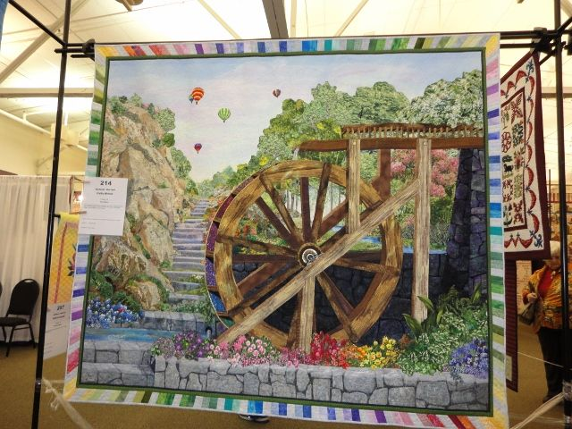 ColorWheel by Kathy McNeill hanging at the Indiana Heritage Quilt Show 2012