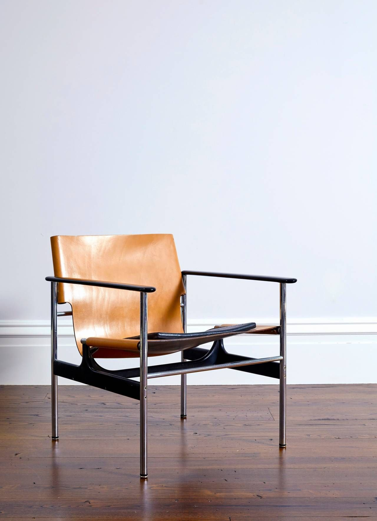 Pollock For Knoll 657 Leather Sling Armchair - From A