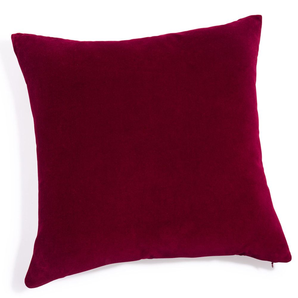 coussin en velours rouge 60 x 60 cm | home | pinterest | velours