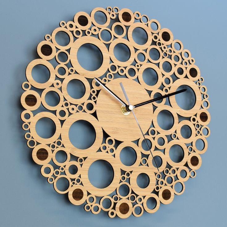 Circles Wall Clock In 2019 Wooden Clock Clock Wall Clock Wooden