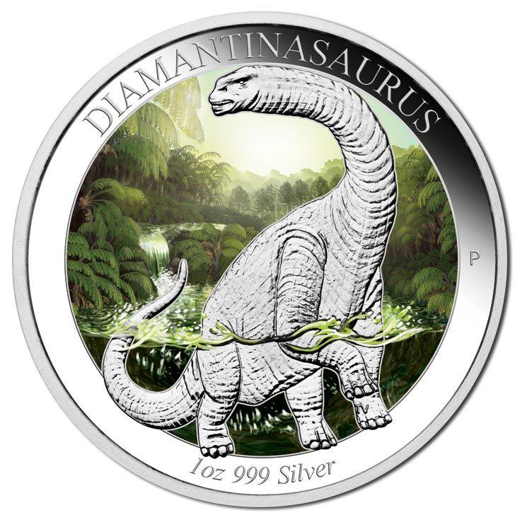 2014 $1 Diamantinasaurus 1oz Silver #Dinosaur Coin