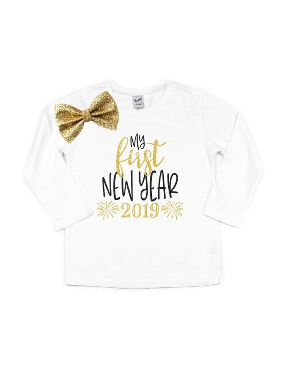 84d08397d75b my first new year 2019 t-shirt - baby new year's eve bodysuits - baby girl  outfits
