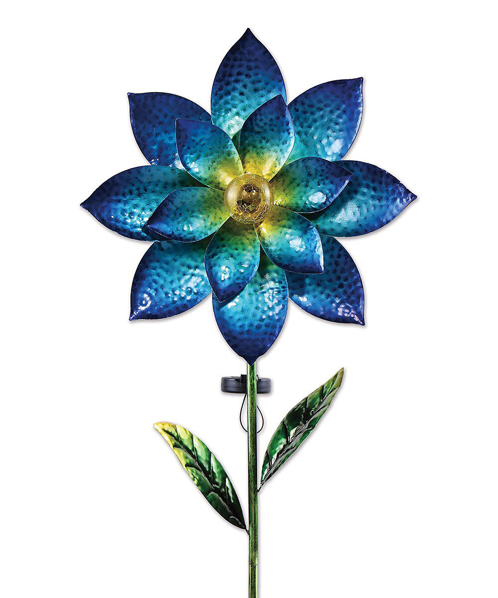 Look at this Sunset Vista Design Co., Inc. | Blue Floral Solar Spinner Stake on #zulily today!