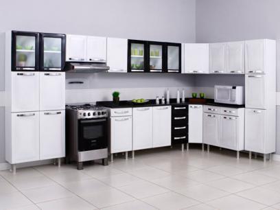 Armario De Cozinha Triplo Itatiaia Itanew 3 Portas Aco Com As