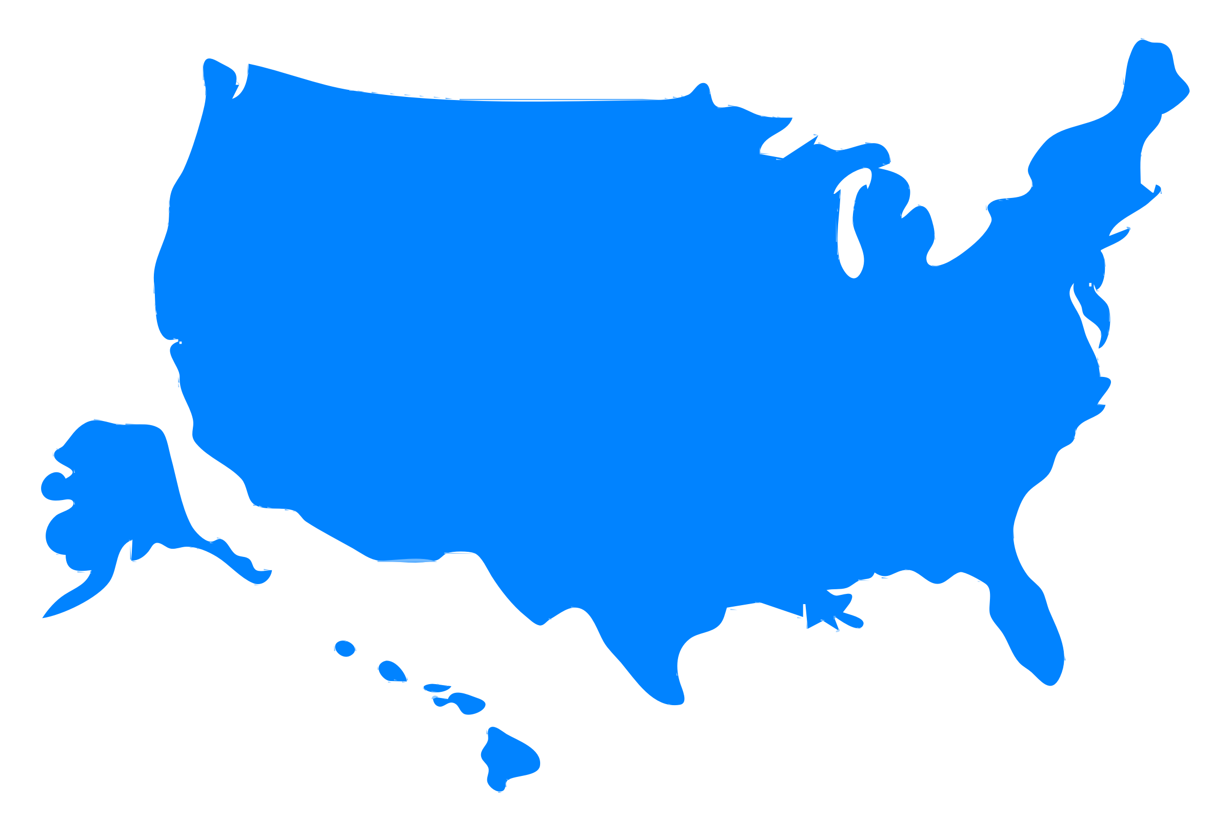 USA Map Silhouette By IslandVibz A Map Silhouette Of The USA - Us map including alaska and hawaii