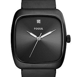 e7f67b2cd Rutherford Carbon Series Black Stainless Steel Watch | FOSSIL ...