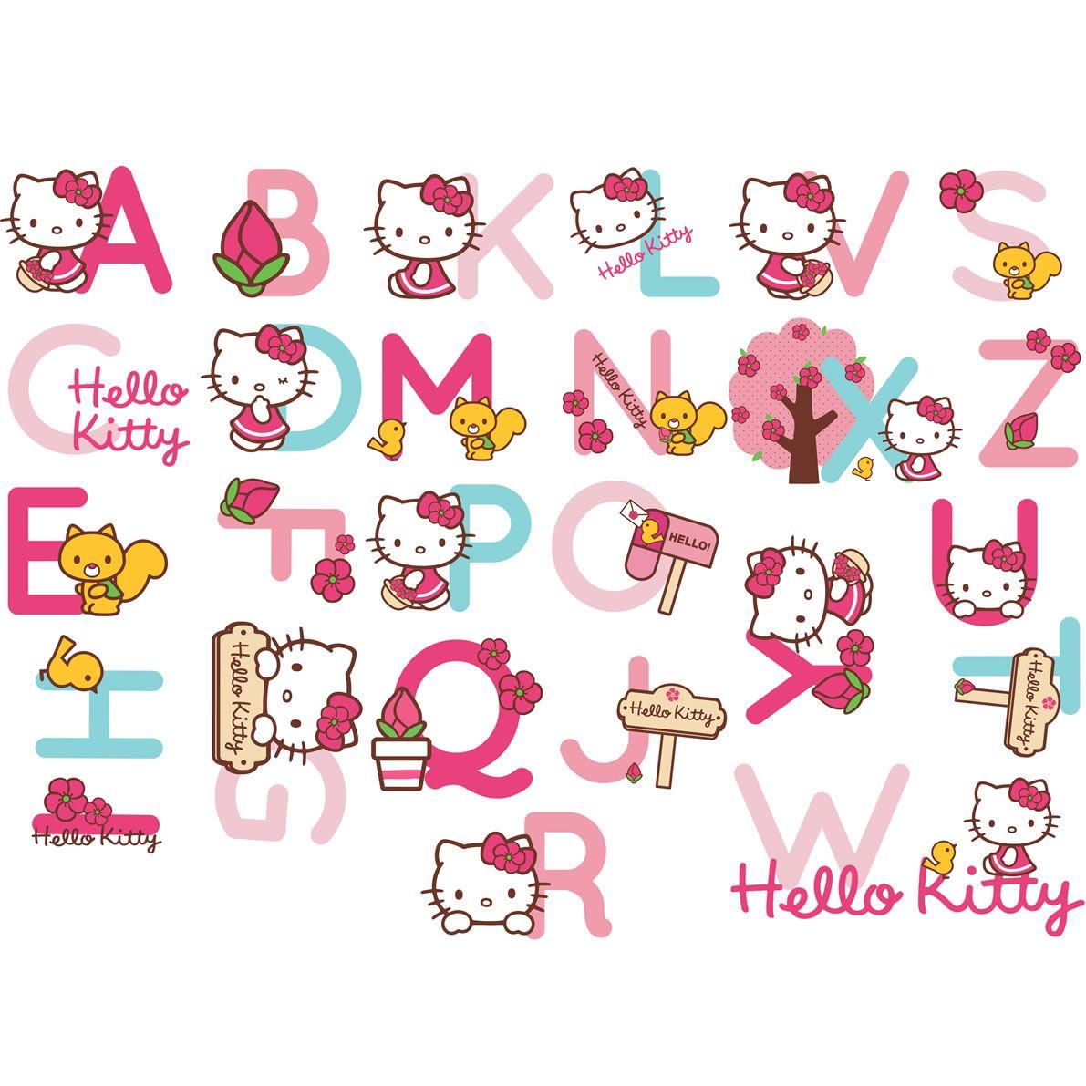 Hello Kitty On Alphabets
