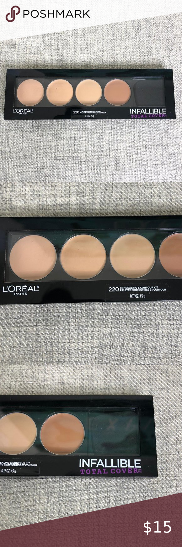 L Oreal 220 Concealing And Contouring Kit New In 2020 Contour Kit Loreal Coverage Concealer
