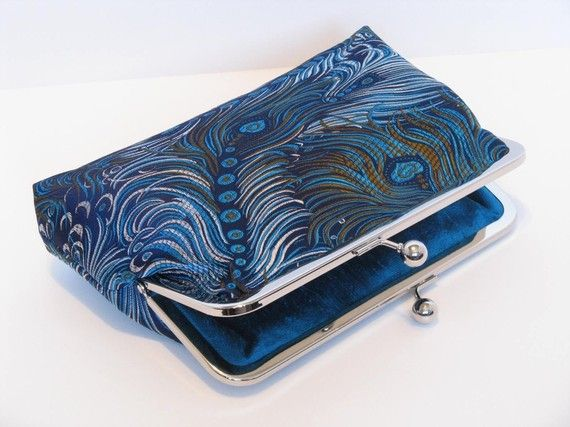 Etsy seller with awesome peacock clutches.