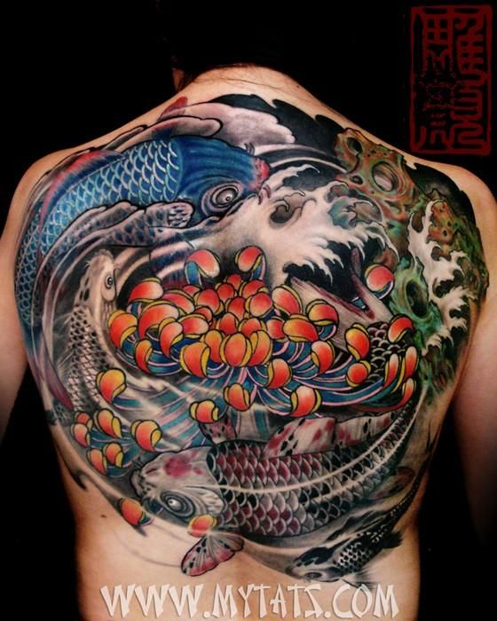 Kois In Yin Yang Circle Done By Jess Yen Koi Tattoo Tattoos For Guys Tattoos