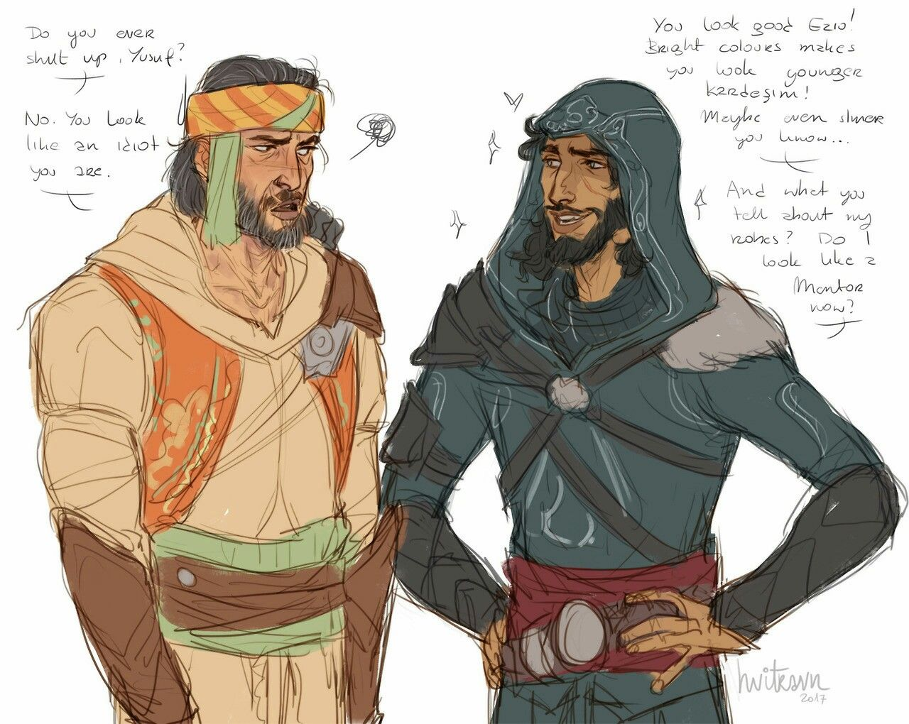Ezio And Yusuf Assassin S Creed Assassins Creed Art Assassins