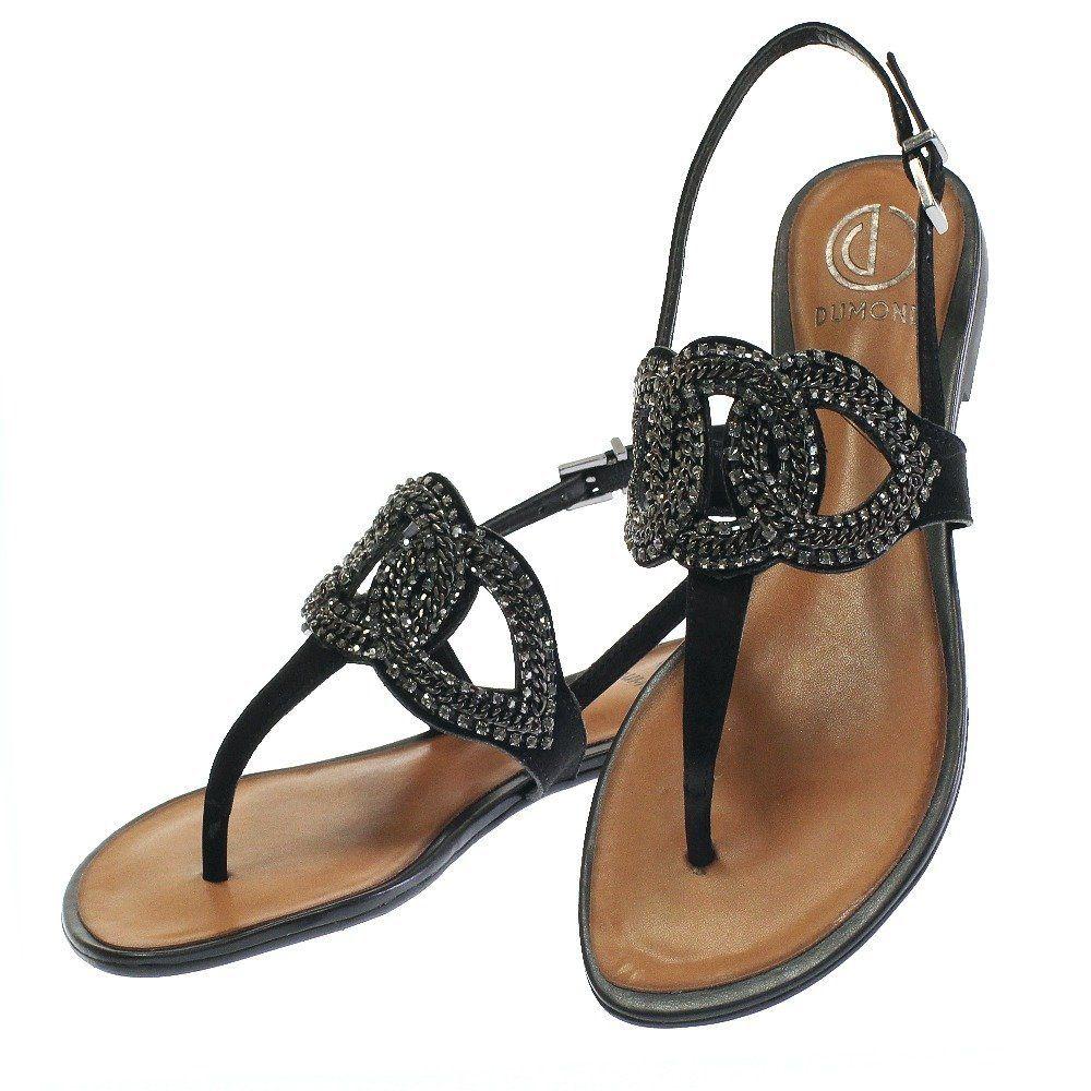 b962dd0e0 Sandalia Rasteira Chain Preta 4589 Dumond para Moselle | Moselle sapatos  finos online! Moselle é feminina.