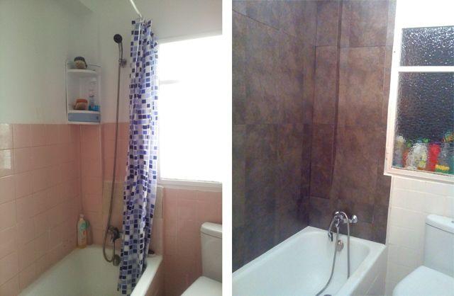 Renovar el baño con losetas vinílicas (con imágenes ...