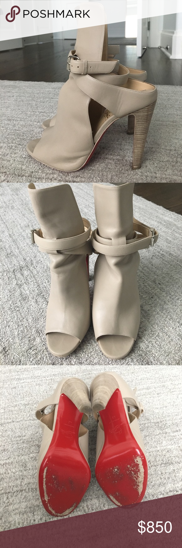 3652de4bb56a Christian Louboutin Hippik Christian Louboutin hippik 100 cut out leather  ankle boots. Dustbag and box included. Christian Louboutin Shoes Ankle Boots    ...