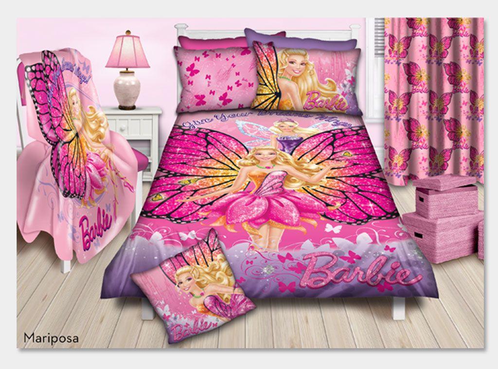 Barbie Mariposa Double Duvet Cover Sets Duvet Cover Sets