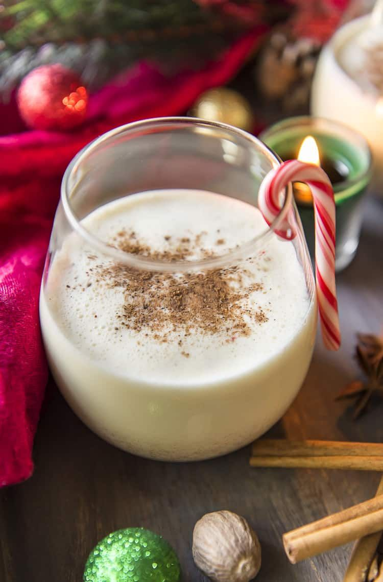 The Store Bought Stuff Simply Can T Compete With A Batch Of This Deliciously Easy Homemade Eggnog Thick Homemade Eggnog Eggnog Recipe Eggnog Recipe Homemade