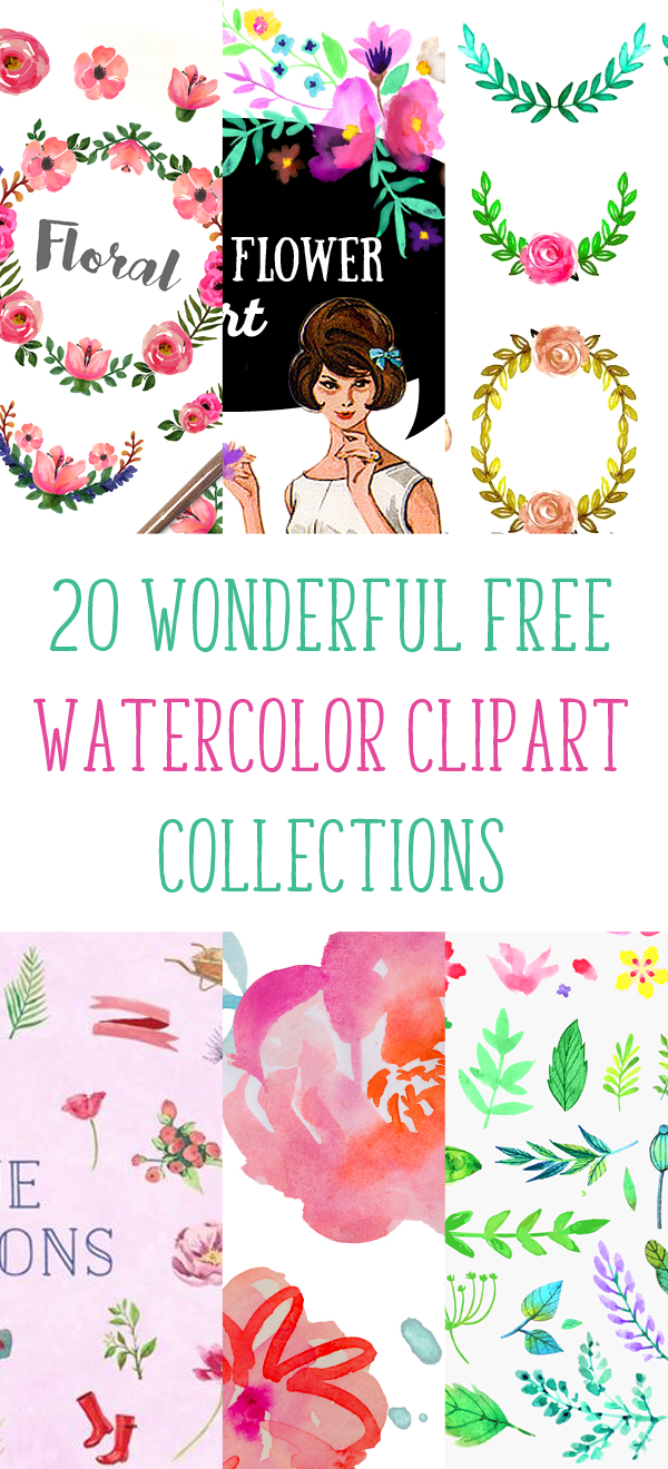 20 Wonderful Free Watercolor Clipart Collections Fabnfree Years Ago Ai How To Edit This Vector For Commercial Use With Pretty Things You