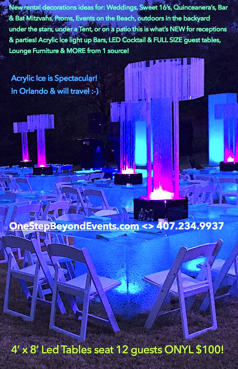 In Orlando Decorate Nationwide Acrylic Ice Tables Bars