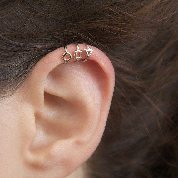 Silver Ear Cuff  Silver cuff earrings no piercing by MayaMor
