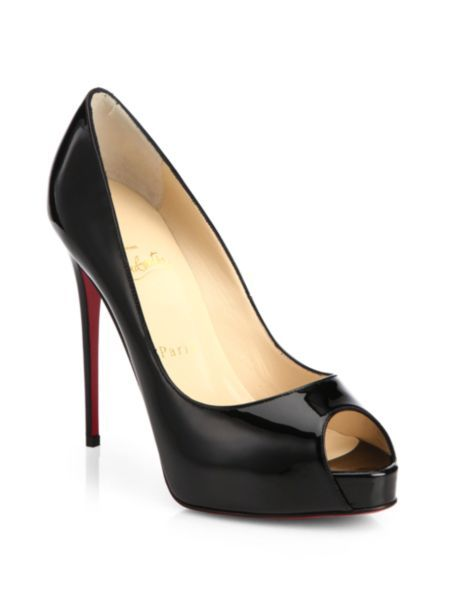 eb22311d393 Christian Louboutin - New Very Prive 120 Patent Leather Peep Toe Pumps