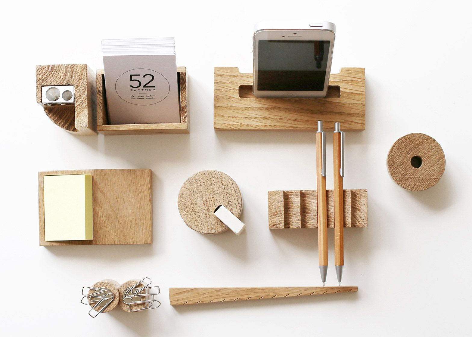 Celebrate Avant Garde Russian Architecture With This Wood Desk Set