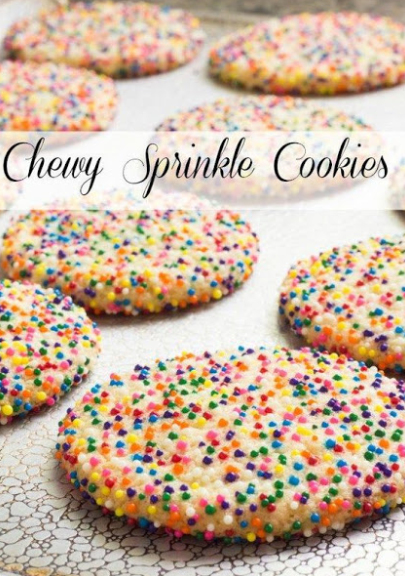 CHEWY SPRINKLE COOKIES -   17 best desserts For Kids ideas