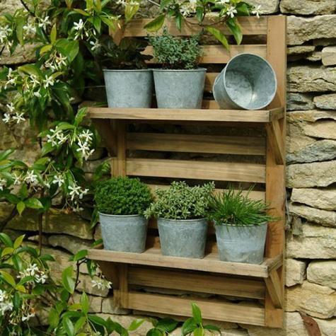 Large Wall Mounted Herb Rack Garden Shelves Hanging Herbs