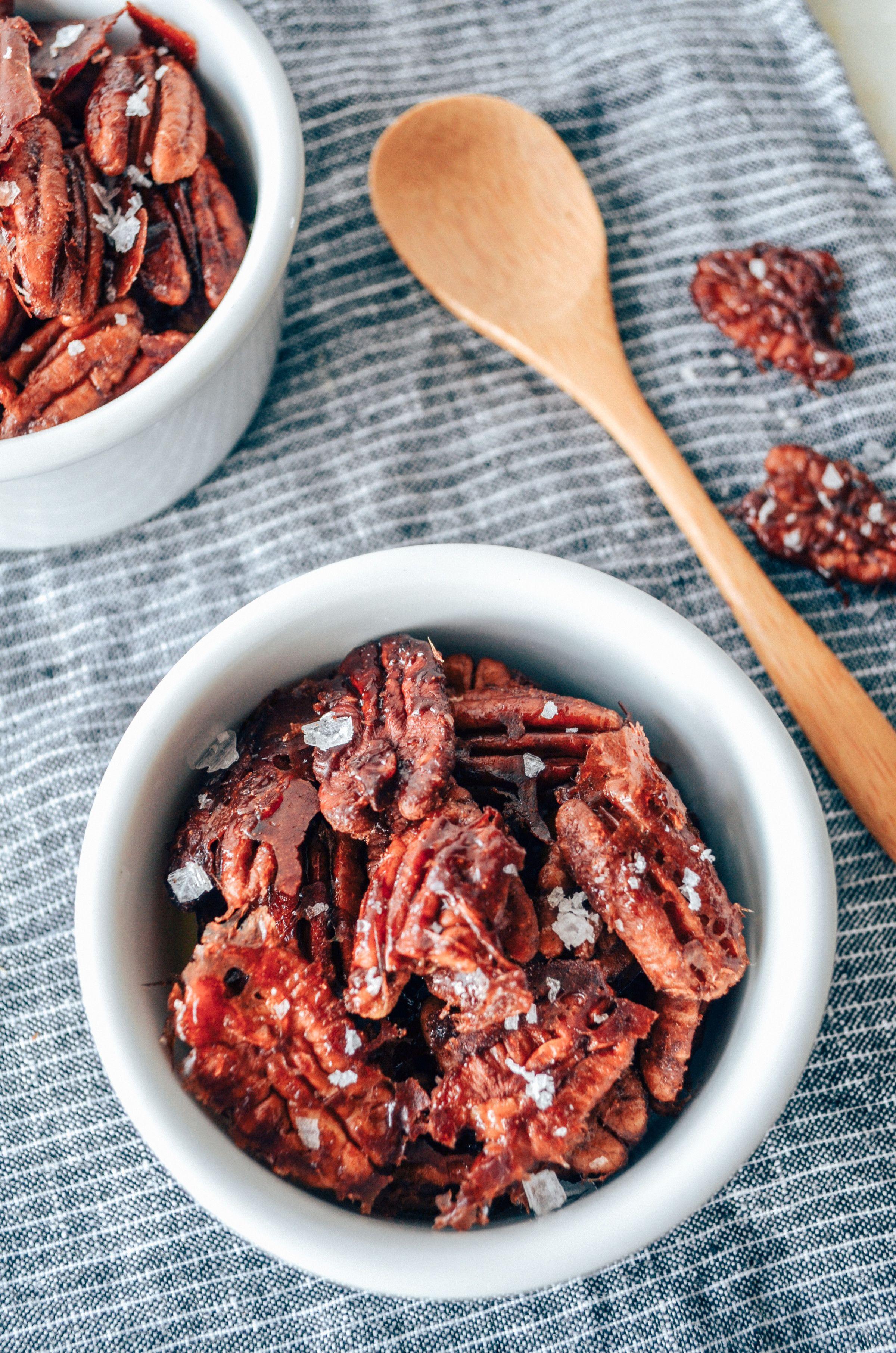 paleo maple cinnamon pecans :: ShiraRD #paleo #refinedsugarfree #SnacksbyShira