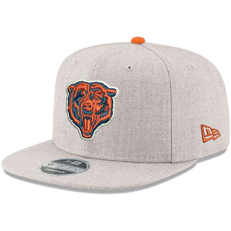 brand new b5638 64b16 Chicago Bears New Era Hype 9FIFTY Snapback Adjustable Hat – Heathered Gray