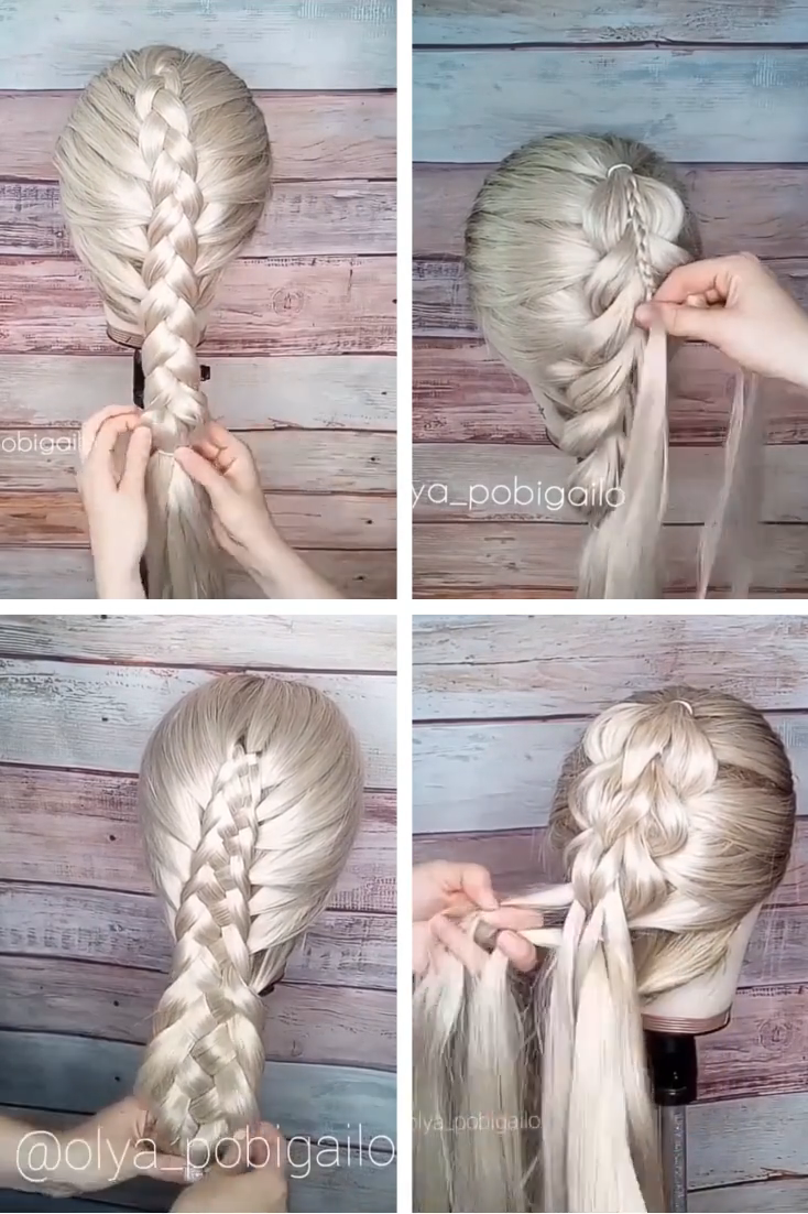 Step by Step Fishtail Braid Tutorial | In Honor Of Design : A step by step tutorial for a full and thick fishtail braid. #Step #Step #Fishtail