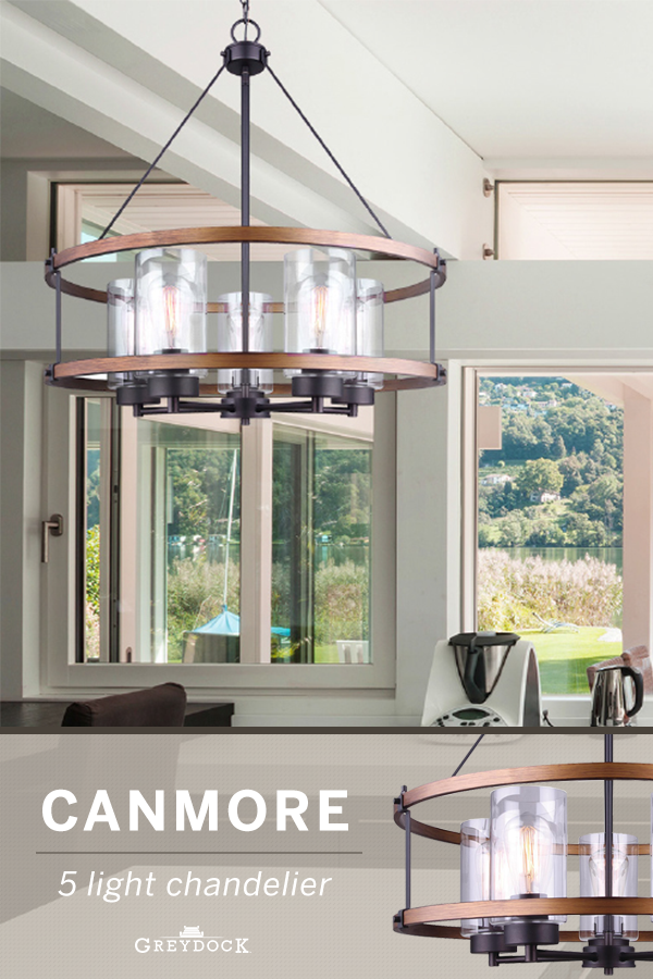 Canarm Ich740a05rbb24 Canmore 5 Light Chandelier Bronze Chandelier In Living Room Transitional Lighting Fixtures Dinning Room Lighting