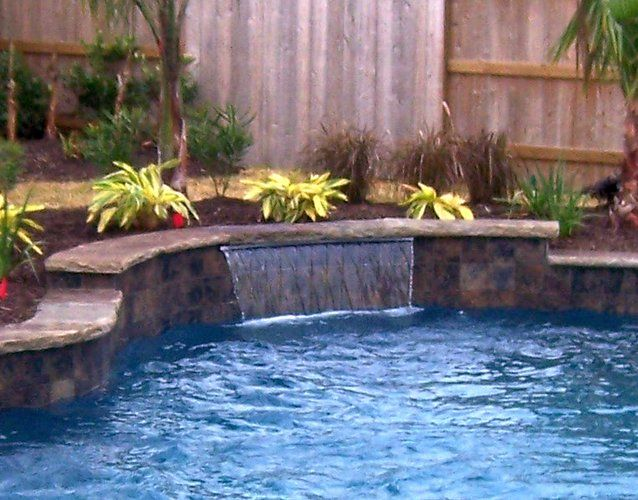 sheer descent scotts landscaping pinterest swimming