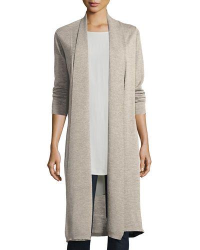 TCW4E Eileen Fisher Washable Wool Kimono Duster Cardigan | Voglia ...