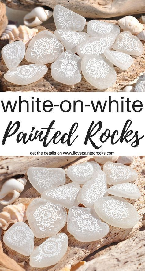 White-on-White Painted Rocks