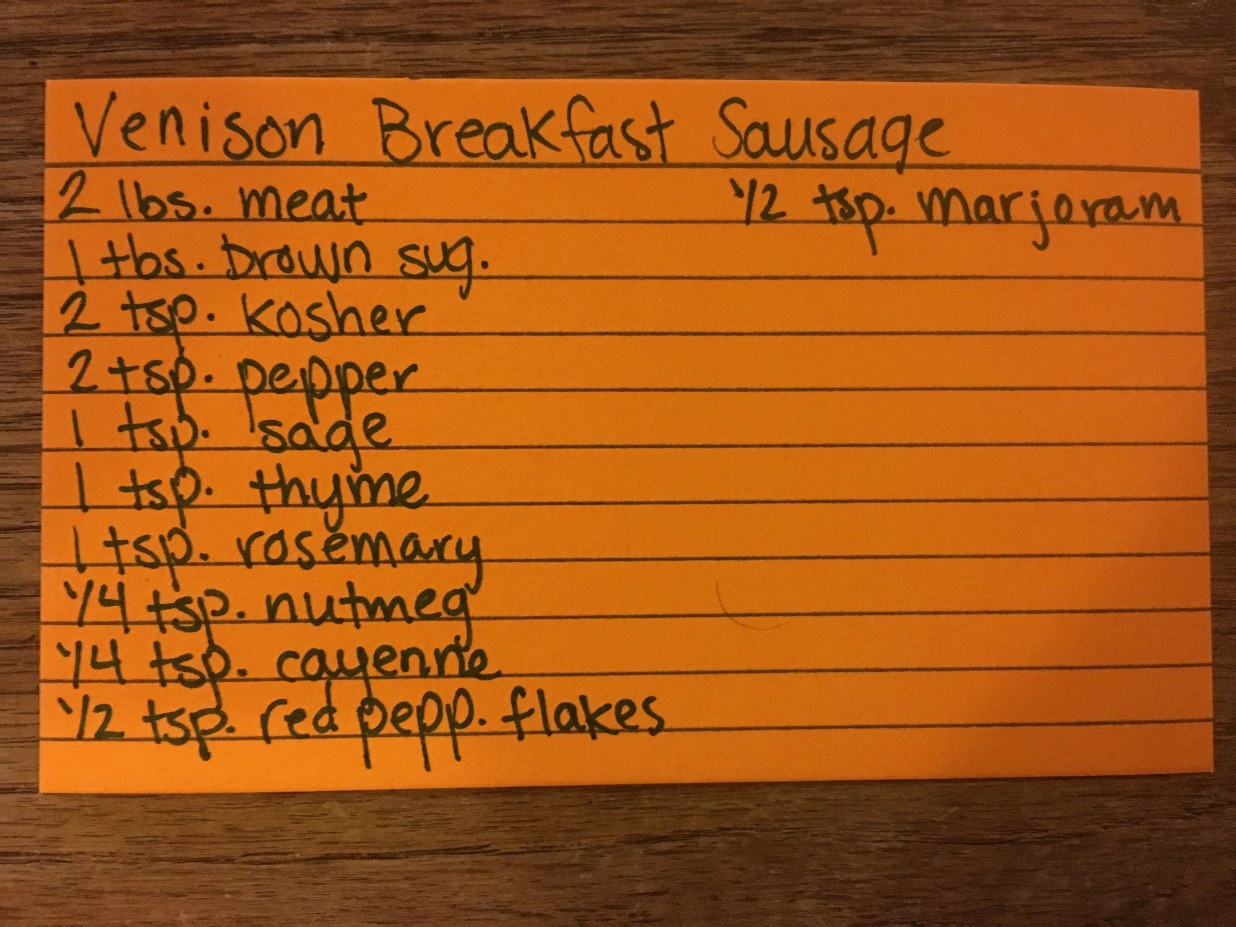 My Recipe For Venison Breakfast Sausage So Good Better