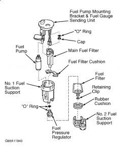 2001 toyota echo fuel filter location #2