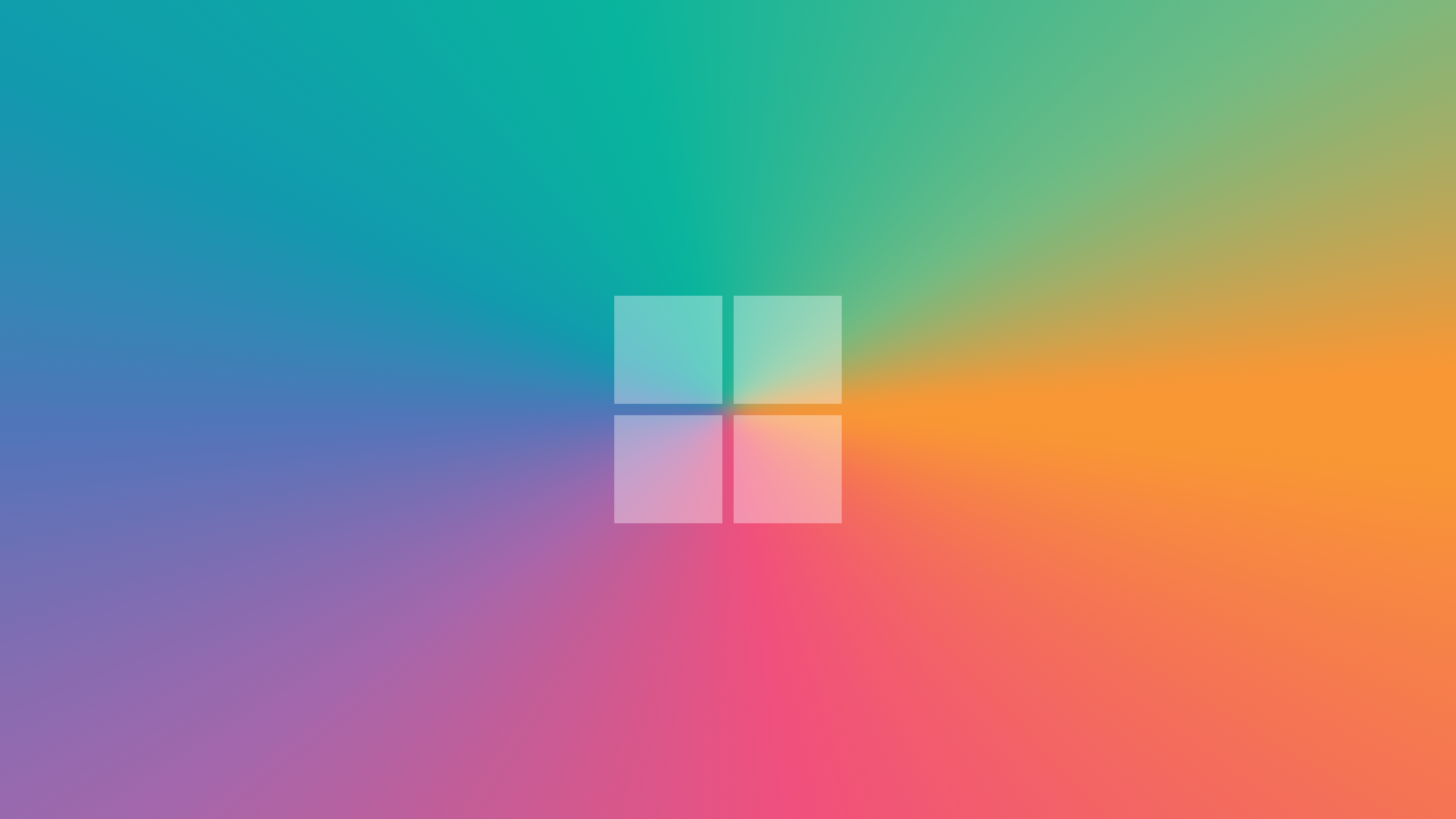 A clean, colourful Windows 10 inspired wallpaper Windows