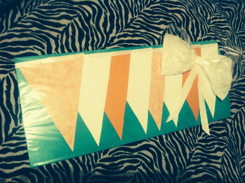 Banderines color pastel, regalo listo para mi amiga