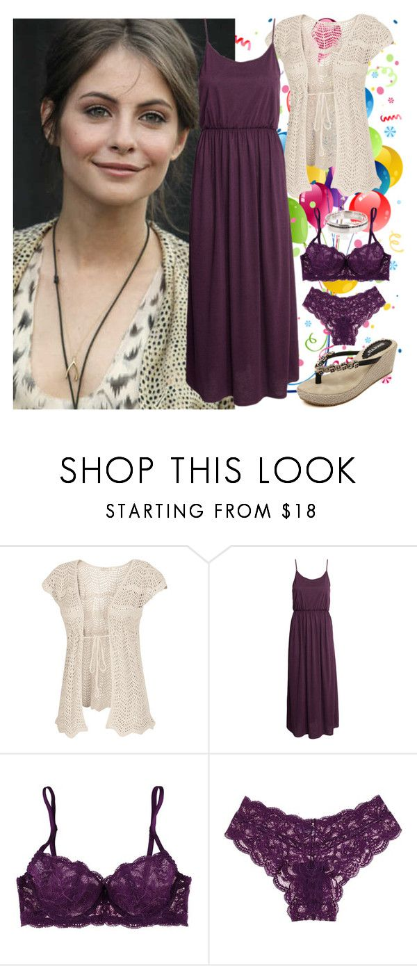 """""""Kaylee - A Little Surprise"""" by shannaraisles ❤ liked on Polyvore featuring Fat Face, H&M, Clo Intimo and CO"""