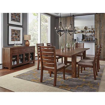 Corrine 8 Piece Dining Set Dining Table Dimensions Solid Wood