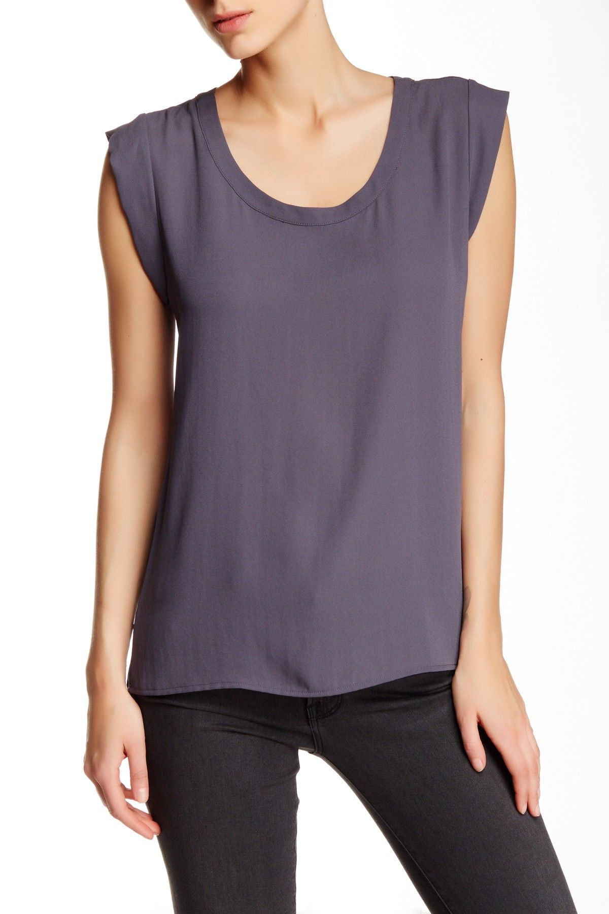 Pleione - Cap Sleeve Pleat Back Blouse at Nordstrom Rack. Free Shipping on orders over $100.