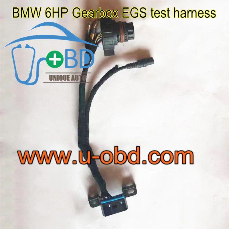 BMW EGS 6HP Gearbox test harness TCU platform cables   www u-obd com
