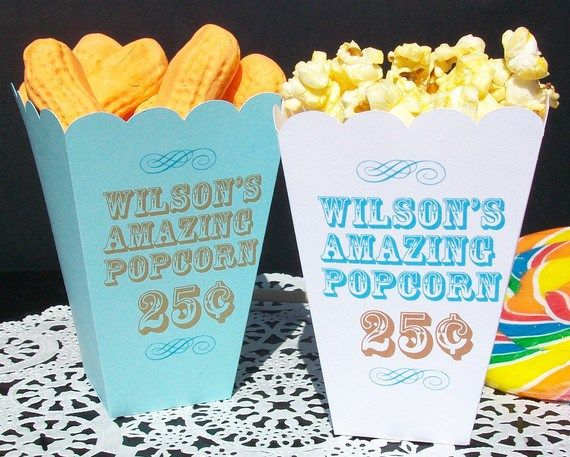 Christening Favors Popcorn Bar Boxes Birthday Favors Bat Mizvah Favors Custom Popcorn Boxes for Weddings Favors